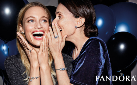 two girls wearing pandora