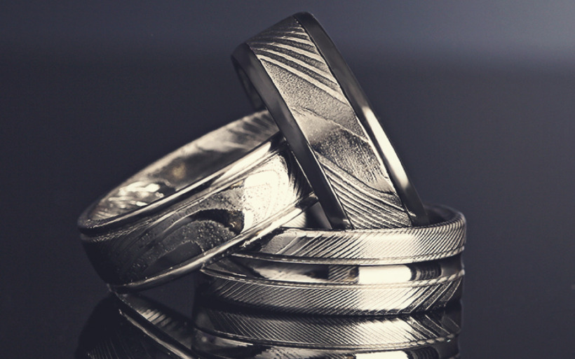 Tantalum wedding bands