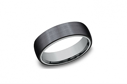 Black Titanium & Tantalum Wedding Band - CF108010BKTGTA10
