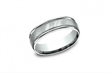 14K White Gold Wedding Band - RECF7604414KW12