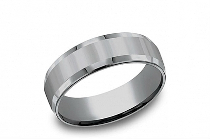Benchmark - Tantalum Beveled Edge High Polish Wedding Band - CF67426GTA12