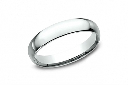 14K White Gold 4 MM Wedding Band - LCF14014KW05